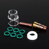 10 Stücke 1,6mm 1/16 inch TIG Schweißbrenner Stubby Gaslinse # 12 Pyrex Cup Satz für WP-17/18
