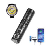 WUBEN D1 1100lm EDC Flashlight with 130m 175° Flood Light Magnetic Mini LED Torch with USB Charging 18650 Battery Phone Power Source