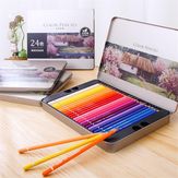 XM Ecosystem Deli 72 Colors Oily Color Pencil Set Soft Core Crayons Painting Drawing Sketching Colored Pencils Painting Supplies