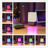 SOLMORE Dimmable USB RGB Color Changing Table Home Decor LED Beside Lamp Night Light Alarm Clock