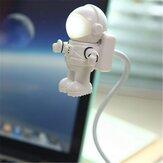 Ajustável astronauta usb tubo LED lâmpada de luz da noite para o ar macbook Pro pc portátil