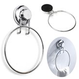 Towel Ring Holder Chrome No-Drilling Suction Cup Bathroom Kitchen Accessory Towel Holder