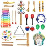 20 strumenti a percussione xilofono bambini bambino strumento musicale in legno giocattoli Banda