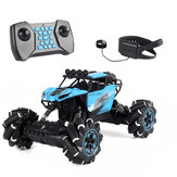 2.4GHz 4WD Watch Remote Control Electric Gesture Sensor Music RC Stunt Car Off-Road Vehicle Picnic Camping Toys with Light