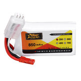 ZOP Power 7.4V 850mAh 2S 25C Lipo Battery JST Plug