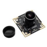 136 ° 2 miljoen Pixel USB-cameramodule 1080P HD voor gezichtsherkenning met microfoon 2 MP groothoekcamera-module