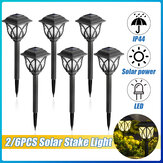 2PCS / 6PCS Outdoor LED Solar Light Waterproof Stake Lamp Home Garden Yard Lawn Decor