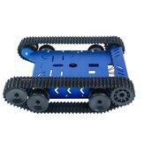 Robot inteligente GFS-X Coche Kit de chasis Tanque de aleación de aluminio Plataforma móvil 2WD Motores para Arduinos / Robot Raspberry Pi