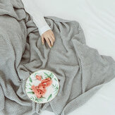 Wool Cotton Soft Blanket Knitting Warm Bedspread Sofa for Home Textiles