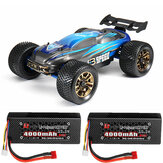 JLB Racing J3 Speed w / 2 البطارية 120A تمت ترقيته 1/10 2.4G 4WD Truggy RC Car Truck Vehicle RTR نموذج