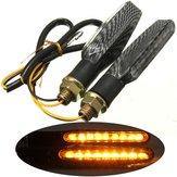 2 قطع 9 LED 12 فولت للدراجات النارية بدوره إشارة مؤشر أضواء العنبر مصباح العالمي