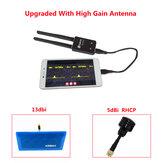 Eachine ROTG02 UVC OTG 5.8G 150CH różnorodność audio odbiornik FPV czarny z anteną RHCP o wysokim wzmocnieniu do tabletu z androidem smartfon