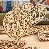 10個のハート愛のDIYの木の工芸吊り装飾工芸ギフト