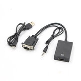 1080P HD VGA To HDMI Converter Adapter with Audio Cable for HDTV PC Laptop TV