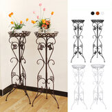 2X 95cm Metal Tall Plant Stand Flower Pot Holder Garden Patio Home Indoor Outdoor