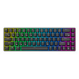 Royal Kludge RK855 68 Tombol Keyboard Gaming Mekanik Mode Ganda Nirkabel bluetooth 5.1 Type-C Keyboard Backlit RGB Berkabel