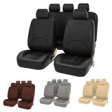 Universal Auto Car Five Seat Covers Faux PU Leather Mat For Four Seasons Cushion Full