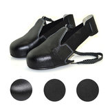 KALOAD 1 Pair Real Leather Men Women Safety Shoe Covers Wearproof Anti-slip Security Shoe Toes Protection Cover