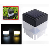 Solar Powered LED Square Białe światło do ogrodzenia Post Pool Garden Outdoor Decor