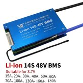Scooter elettrico BMS 14S 48V Li-ion 3,6 V / 3,7 V Batteria Scheda di protezione accessori 15A -180 A con PCB di controllo della temperatura bilanciato