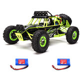 WLtoys 12427 2.4G 1/12 4WD Crawler RC Car With LED Light Two Battery 7.4V 1500mAh