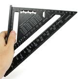 Raitool ™ AR01 260x185x185мм метрикческая треугольная линейка из алюминиевого сплава черный треугольник