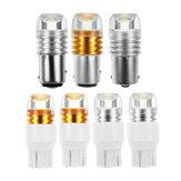 2pcs blanco amarillo 1156/1157 7440/7443 T20 S25 6W bombillas de señal de giro para luces de marcha atrás delanteras luz de freno