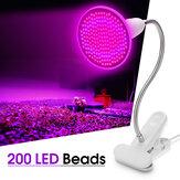 20 W 200LED Plant Groeien Licht Flexibele Bloem Lamp Clip Houder met Schakelaar voor Kas Indoor AC100-240V