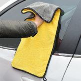 Çift Renkli Mikrofiber Araba Yıkama Havlu Temizleme Kurutma Arabae Kumaş Hemming Güçlü Emici