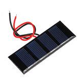 0.2W 2V 78.8 * 28.3mm Mini pannello in resina epossidica al silicio policristallino Pannello solare per parte fai da te