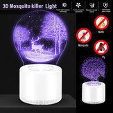 3D Mosquito Killer Light for Indoor use USB Power Supply No Radiation Safe for Baby