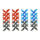 10 Pairs KINGKONG/LDARC 1545 40mm 4-blade Propeller 1.0mm Hub for TINY 7 7X Snapper7 Mobula7 TRASHCAN RC Drone