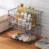 Bewegliches Eisenlagerregal Metallregal mit Rädern, das Obst-Gemüse-Sparorganisator für das Wohnzimmer der Küche speichert
