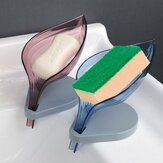 Forma da folha Sabão Dreno Caixa Sabão Suporte de prato Ventosa Bandeja de chuveiro Suporte de drenagem Banheiro Suprimentos
