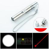 Three-in-one Flashlight White light + Laser +365 White Light USB Rechargeable Mini LED Flashlight Outdoor Work Light Laser Light