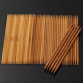 55 szt. 11 rozmiarów Carbonized Bamboo Double Pointed Knitting Needles Hat Sweter Szalik Crochet Hook