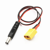 Lantian RC XT60 Male to DC 5.5 Power Cable For FatShark HD2/V3 FPV Goggles Battery Receiver Monitor