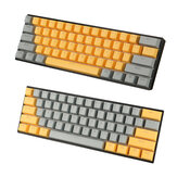 111 Keys Orange&Grey Keycap Set OEM Profile ABS Keycaps for Mechanical Keyboard