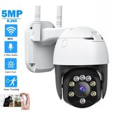 Newest SD05W 5MP HD 3.6mm 5x Zoom Focus PTZ IP Camera P2P IP66 Waterproof Human Detection Night vision Speed Dome H.265+ Outdoor CCTV Camera
