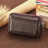 Men Genuine Leather Retro Multi-carry Mini Phone Bag Card Holder Bag Waist Bag Crossbody Bag