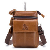 Men Genuine Leather Multi-carry Crossbody Bag Cowhide Bag