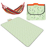 Folding Picnic Mat Waterproof Sleeping Pad Blanket Pad with Hammock Outdoor Camping Picnic Travel