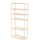 6 Tier Display Flower Stand Shelf Garden De madeira Book Storage Rack Indoor Outdoor