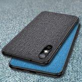 Bakeey voor Xiaomi Redmi 9A Case Ademend canvas Zweetbestendig schokbestendig beschermhoes Achterkant Niet origineel