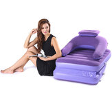 2 In 1 Inflatable Lazy Sofa Portable Folding Bed Single Mattresses With Air Pump Outdoor Camping