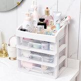 Пластиковый ящик для хранения Пылезащитный ящик для хранения косметики Коробка Макияж Рабочий стол Органайзер Полка для туалетного столи