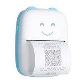 Mini drukarka fotograficzna z kablem USB Bluetooth 200DPI Przenośna kieszonkowa drukarka termiczna do drukowania etykiet ze zdjęciami