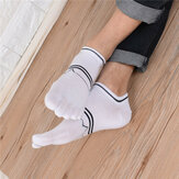 Men Cotton Deodorant Sweat Five Toe Socks