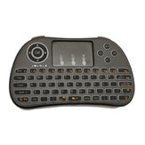 I86 Wireless Backlit Branco 2.4GHz Touchpad Teclado Air Mouse