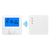 LCD Wireless Digital Thermostat RF Heating Programmable Thermostat Thermometer for Electric Heating System